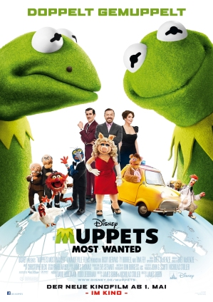 Tysk poster för Muppets Most Wanted